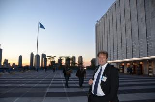 Frederic Hauge på FN klimatoppmøte NY